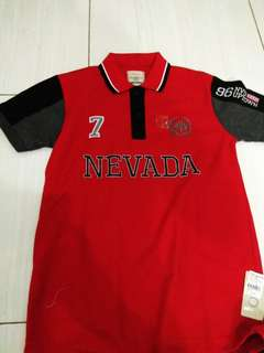 Polo Shirt Nevada Red Black