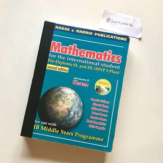 haese ib mathematics math harris publications sl hl pre diploma international students