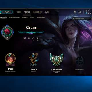 League of legends Platinum 4 account