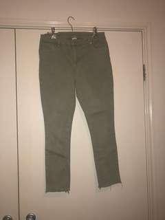 Light khaki high waisted jeans