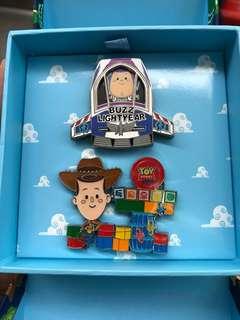 上海迪士尼玩具總動員開園徽章 襟章 Disney Pin