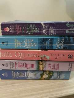 Romance novels for 100 each! (Julia Quinn) 19 novels total