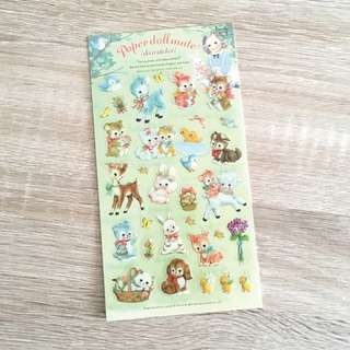 Paper Doll Mate Picnic Diary Deco Stickers