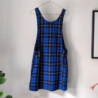 Blue Tartan Tunic Dress from Asos Vintage