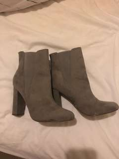 NEW grey suede boots