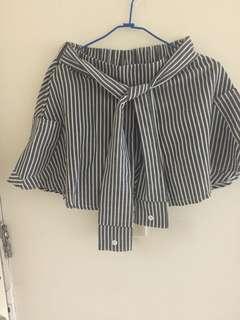 🚚 條紋綁帶褲裙