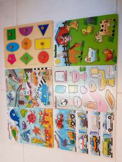 Used Wooden Puzzles set