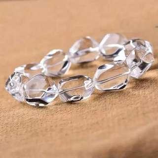白水晶隨形手串 25x16mm 280元