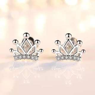 🚚 (現貨)女神純銀皇冠耳環