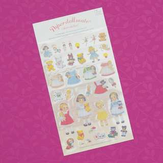 Paper Doll Mate Shopping Diary Deco Stickers