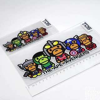 PO - avengers x baby Milo car sticker