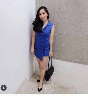 Jumpsuit electric blue