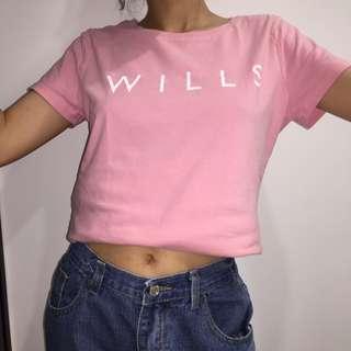 Jack Wills 粉紅色短袖上衣 t shirt