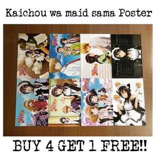 A3 Kaichou wa Maid sama Poster