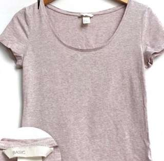 H&M Basic Cream T-Shirt