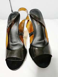 Mocha high heeled sandals