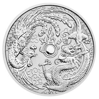 最後一枚現貨 包速遞 罕有 澳洲銀幣 1oz 龍與鳳凰 普鑄 全新未開連膠盒silver coin BU