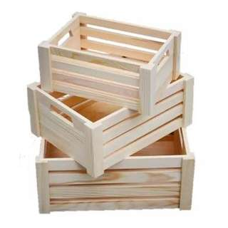 [Rent] Set of 3 Wooden Crates
