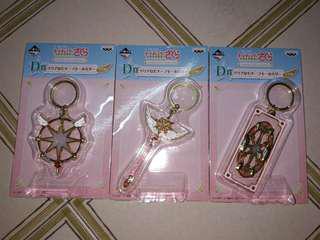 [All 3 $40] Cardcaptor Sakura: Clear Card Arc ~Twinkle Colour Collection~ Ichiban Kuji - Prize D Big Metallic Coloured Keychain ×3 (Partial Set)