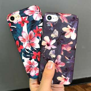 Retro Flower hard case