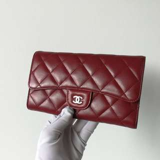 Authentic Chanel Tri Fold Wallet
