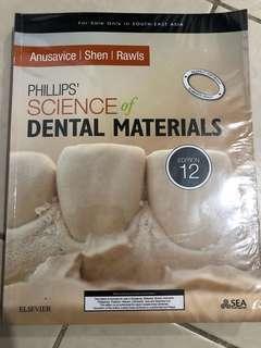 Phillips' Science of Dental Materials Textbook