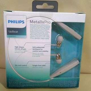 Philips Bluetooth Upbeat Wireless Headset (White)