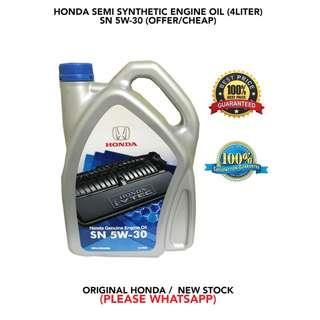 HONDA SEMI SYNTHETIC 5W-30 ENGINE OIL (CHEAP)