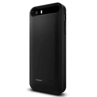 572.iPhone SE Battery Case External Charger Case/Portable Charger MFi Apple Certified Charging Case for iPhone SE/iPhone 5/iPhone 5S 2400Mah - Black