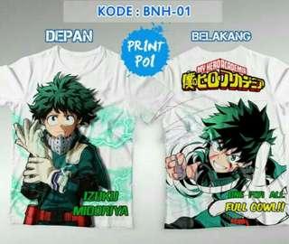 Boku No Hero Academia Midoriya Izuku (kaos full print)