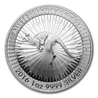 超值 2016 澳洲銀幣 1oz 袋鼠系列 全新連膠盒 投資收藏一流 保證正貨 普鑄 silver kangaroo