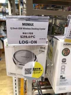 MOMAX Q.Dock UD8 Wireless Docking Crystal無線充電器