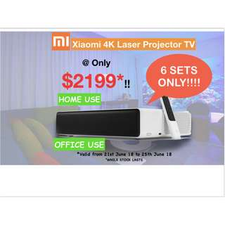 Laser TV mi short throw projector Built up your home cinema 1 year warranty