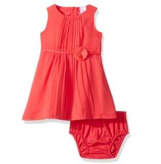🚚 *24M* BN Carter's Pleated Chiffon Red Dress for baby girl