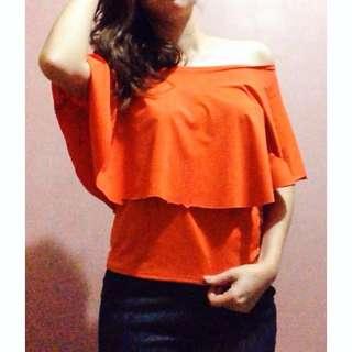 Orange off shoulder top