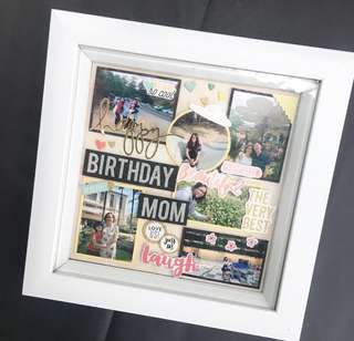 Customised Shadow Box - 3D photo frame (For Mom)