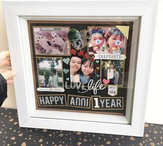 Customised Shadow Box - 3D Photo Frame ( Anniversary)