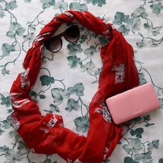 Red Dalmatian Infinity Scarf