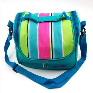 insulated thermal co0ler lunch bag/blue green