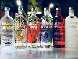 Absolut Vodka Assorted Flavours & Limited Editions