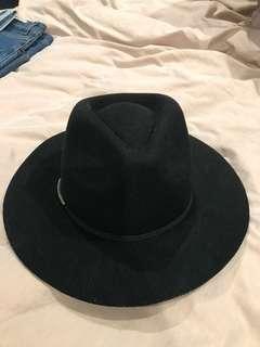 Kookai wool fedora hat black