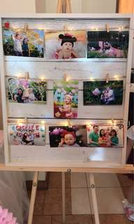 [Rent] Wooden photo board display
