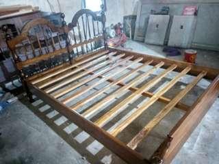 ranjang kayu jati asli 100% jati