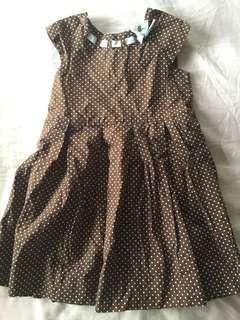 Periwinkle polka dot dress