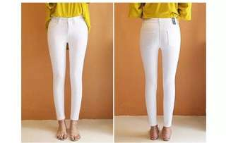 LOW WAIST WHITE JEANS EO