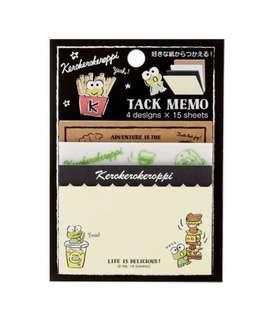 日本 Sanrio 直送粉筆畫系列 Kerokerokeroppi Sticky Note 便利貼
