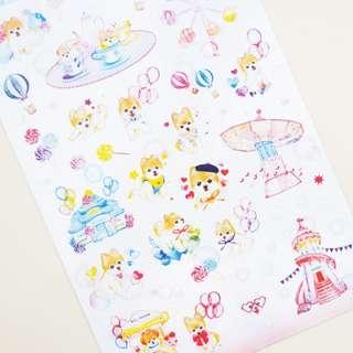 Monet Pomeranian Fantasy Diary Deco Stickers