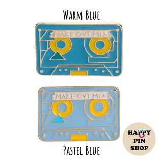 🎵 Make Out Mix Casette Tape Enamel Pin (Retro Audio Visual series)