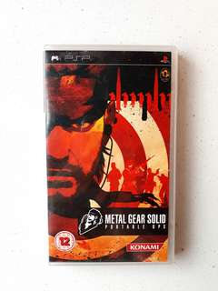 PSP UMD Metal Gear Solid