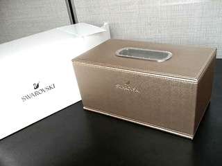 Swarovski tissue box / tissue box holder New